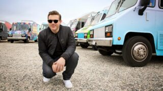The Great Food Truck Race host Tyler Florence during season 7 at the Catalina View Gardens in Palos Verdes, Calif.