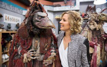 Jim Henson's Creature Shop Challenge host Gigi Edgley, Skeksis