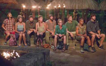 Survivor Cagayan's top 9 contestants at the episode 8 Tribal Council