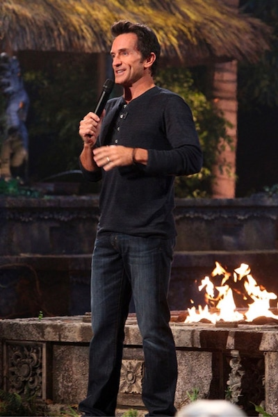Jeff Probst during the live Survivor Cagayan finale and reunion