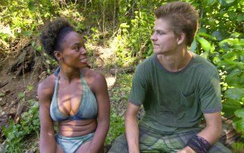 "Tasha"" Fox and Spencer Bledsoe talk during Survivor Cagayan episode 10, ""Havoc to Wreak"""