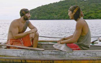 """Tony Vlachos and Yung """"Woo"""" Hwang talk during Survivor Cagayan episode 12"""