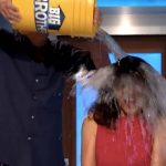 Zach attacks with Froot Loops, Julie Chen soaked