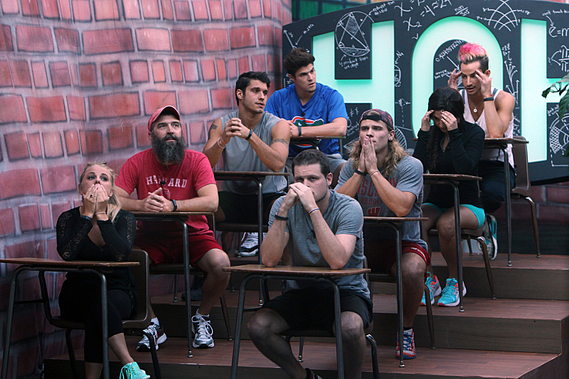 The live HOH competition during Big Brother 16's double-eviction night. (Photo by Sonja Flemming/CBS)