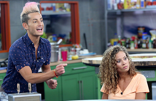 Frankie and Amber on Big Brother 16. (Photo by Monty Brinton/CBS)