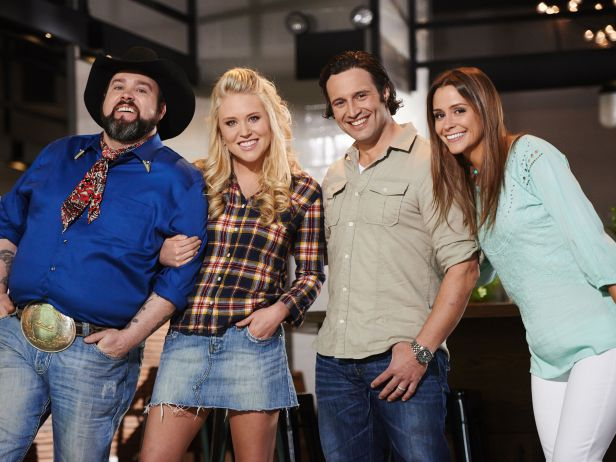 Food Network Star's final four: Lenny, Sarah, Luca, and Nicole.