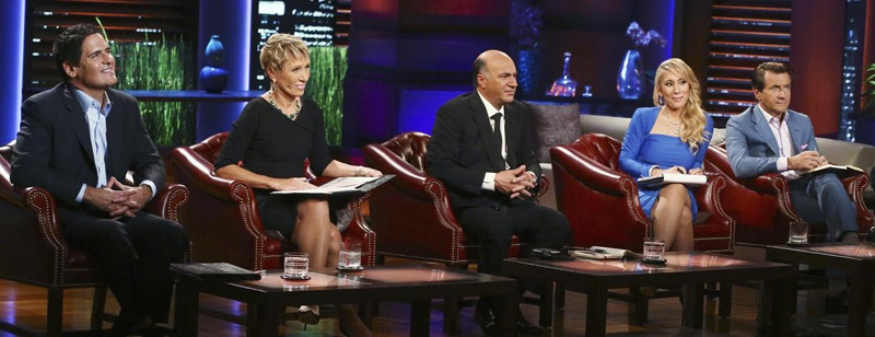 Shark Tank's Mark Cuban, Barbara Corcoran, Kevin O'Leary, Lori Grenier, and Robert Herjavec. (Photo by Michael Ansell/ABC)