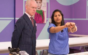 Tim Gunn and Sandhya Garg on Project Runway