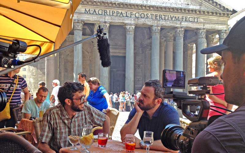 Zane Lamprey filming Chug in Rome