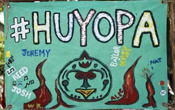 The tribe flag of Huyopa, the merged tribe on Survivor San Juan Del Sur