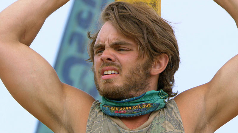 Wes Nale plays for immunity on Survivor
