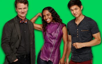 Fake Off judges Michael Curry, Harry Shum Jr., and Chilli