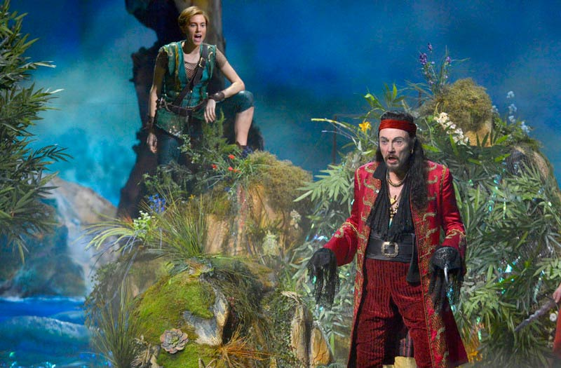 Allison Williams as Peter Pan and Christopher Walken as Captain Hook