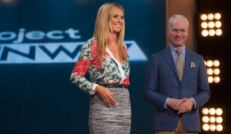 Project Runway's Heidi Klum and Tim Gunn