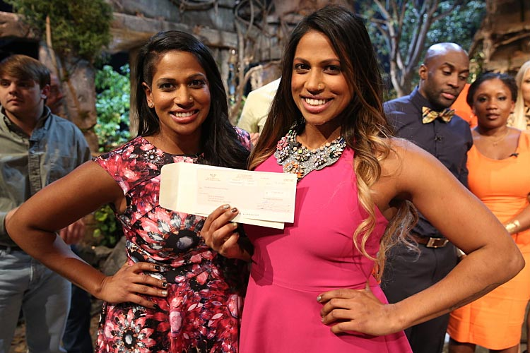Survivor winner Natalie Anderson and her sister Nadiya