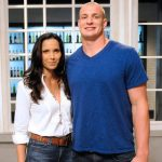 Padma Lakshmi and Rob Gronkowski on Top Chef