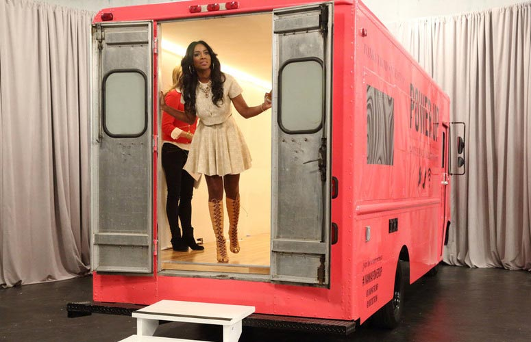 Apprentice's Kenya Moore in a truck to sell shoes for Ivanka Trump ...
