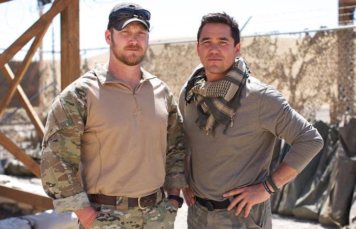Chris Kyle and Dean Cain on NBC's Stars Earn Stripes