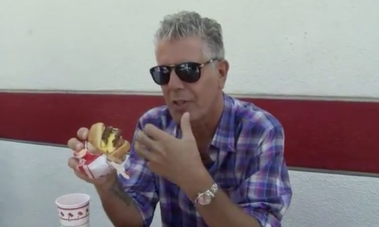 Anthony Bourdain In-N-Out video