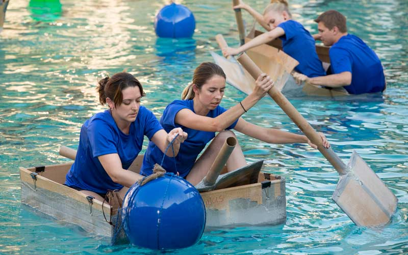 King of the Nerds cardboard boat challenge
