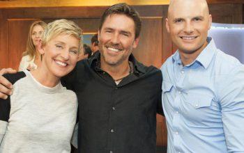 Ellen's Design Challenge disqualified winner Chip McClelllan with Ellen DeGeneres and Chip