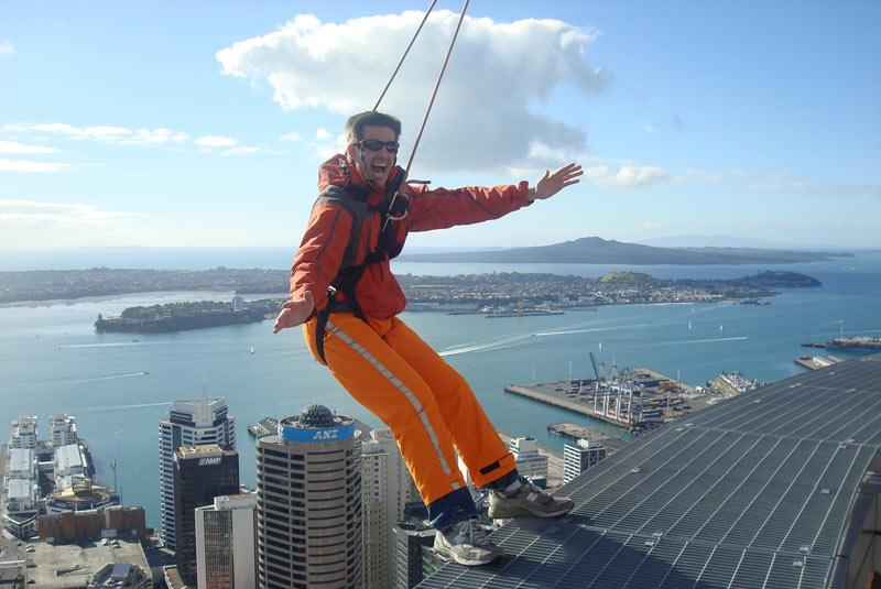Andy Dehnart on Auckland's Sky Tower's SkyWalk