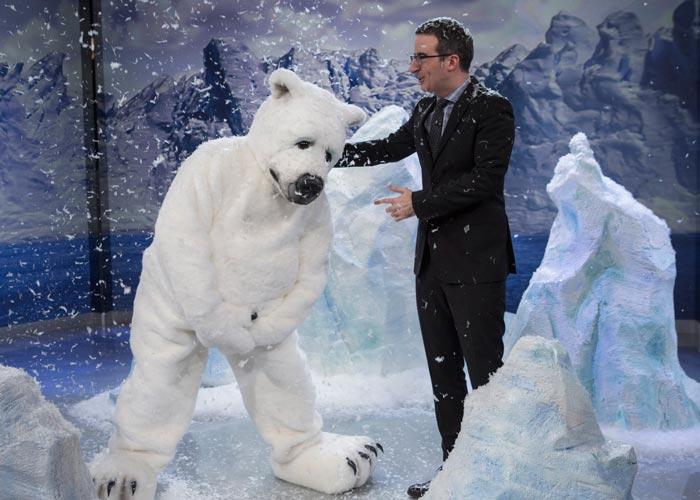 Last Week Tonight John Oliver Marshmallow polar bear broken penis