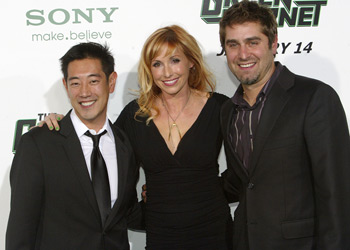 Grant Imahara, Kari Byron, and Tory Belleci