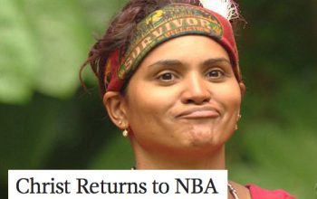 Sandra Diaz Twine Christ Returns to NBA Survivor and Onion headlines