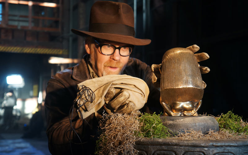 Mythbusters Adam Savage in the Indiana Jones episode