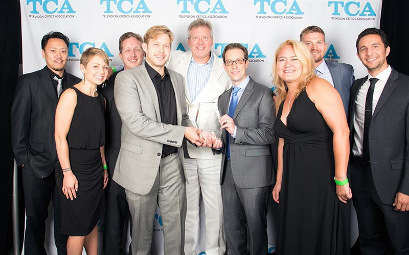 The Chair TCA award backstage