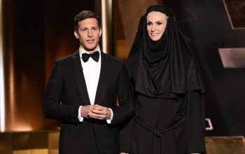 Emmys Andy Samberg and Jane Lynch