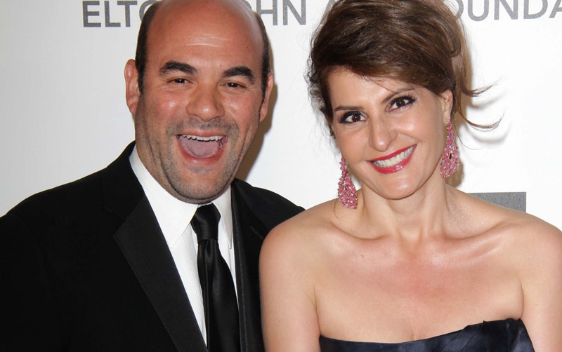 ABC Great Holiday Baking Show hosts Ian Gomez and NIa Vardalos