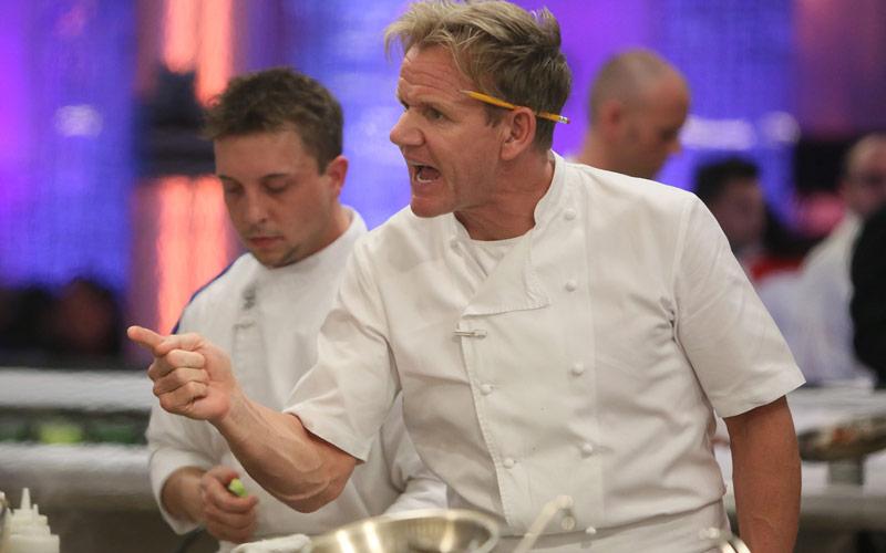 Hell's Kitchen Gordon Ramsay yelling