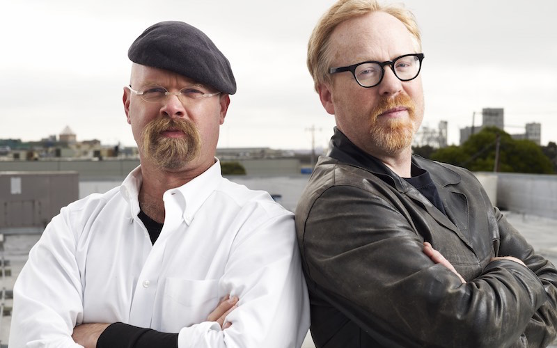 Mythbusters Jamie Hyneman and Adam Savage