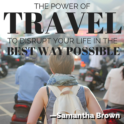 Samantha Brown the power of travel