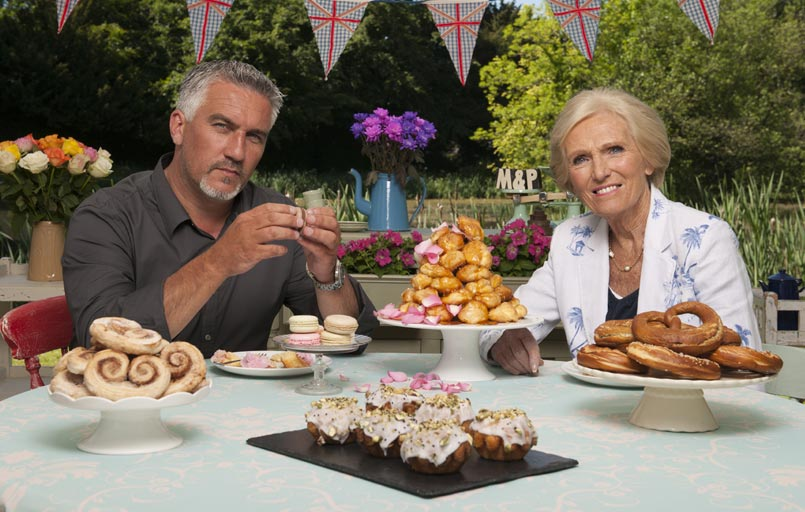 Great British Baking Show Paul Hollywood and Mary Berry