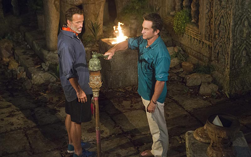 Survivor Cambodia Second Chance Andrew Savage Jeff Probst torch snuffed