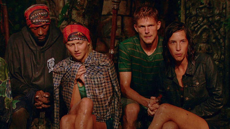 Survivor Cambodia Tribal Council raining cold