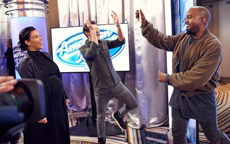 American Idol 15 Kanye West Kim Kardashian Ryan Seacrest