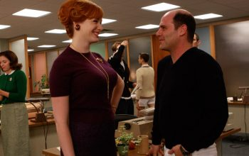 Matthew Weiner Christina Hendricks Mad Men set behind the scenes