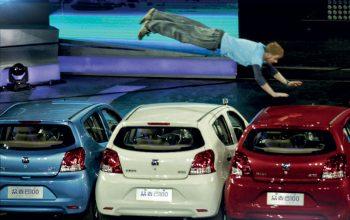 Super Combat Teams, cars, man flying through air