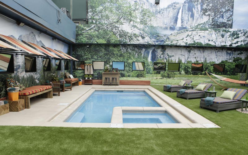 Big Brother house, BB18, new pool, Yosemite