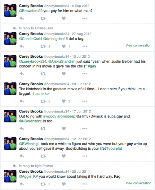 Corey Brooks, BB18, Big Brother 18, tweets
