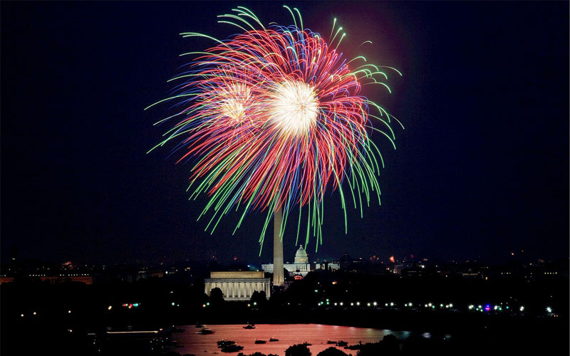 Fourth of July fireworks, Washington, DC