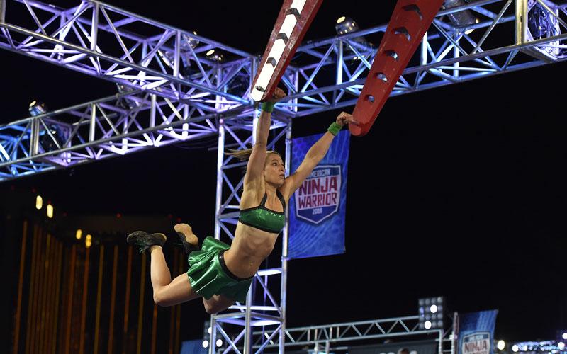 American Ninja Warrior, Jessie Graff, stage one, Las Vegas finals