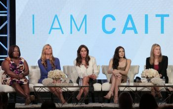I Am Cait season two cast, Chandi Moore, Candis Cayne, Caitlyn Jenner, Ella Giselle, and Jennifer Finney Boylan