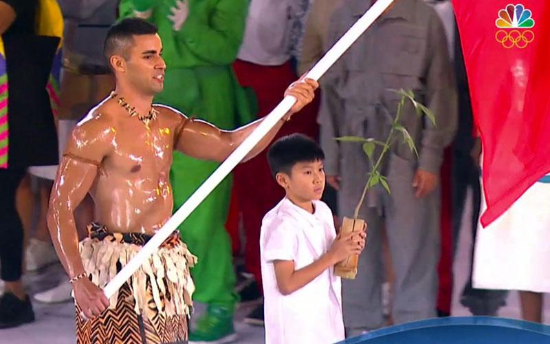 Rio Olympics opening ceremony, NBC, Tonga