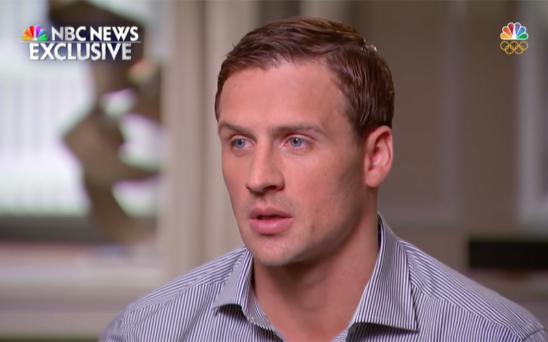 Ryan Lochte, Matt Lauer, NBC News
