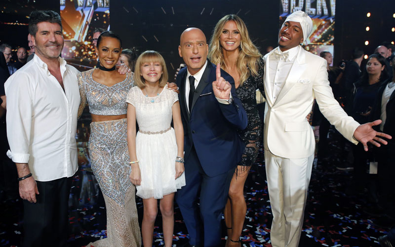 America's Got Talent, Simon Cowell, Mel B, Grace VanderWaal, Howie Mandel, Heidi Klum, Nick Cannon